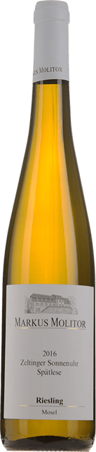 MARKUS MOLITOR Zeltinger Sonnenuhr Riesling Spatlese Riesling,Mosel-Saar-Ruwer 2016