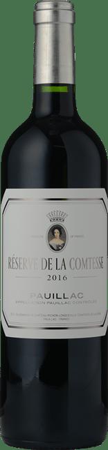 RESERVE DE LA COMTESSE Second wine of Chateau Pichon-Longueville Lalande, Pauillac 2016