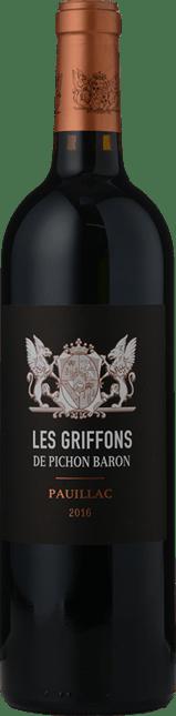 LES GRIFFONS DE PICHON BARON Second wine of Chateau Pichon Baron , Pauillac 2016