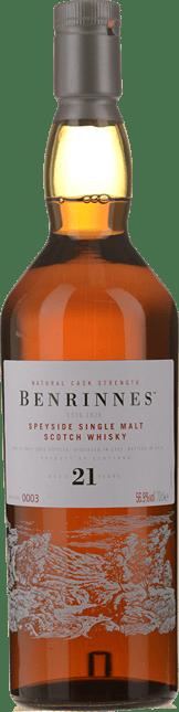 BENRINNES DISTILLERY 21 Year Old Single Malt 56.9% ABV, Speyside NV