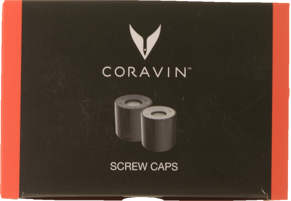 CORAVIN, Screw Caps (4 standard - 2 Large) NV