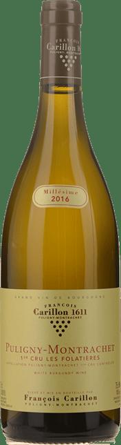 DOMAINE FRANCOIS CARILLON  Folatieres 1er cru, Puligny-Montrachet 2016