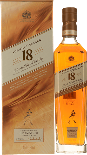 JOHNNIE WALKER 18 Year Old Blended Scotch Whisky 40% ABV, Scotland NV