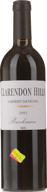 CLARENDON HILLS Brookman Vineyard Cabernet Sauvignon, McLaren Vale 2003
