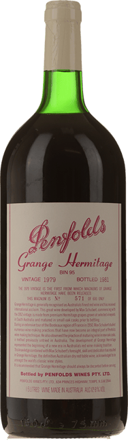 PENFOLDS Bin 95 Grange Shiraz, South Australia 1979