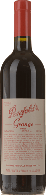 PENFOLDS Bin 95 Grange Shiraz, South Australia 2002