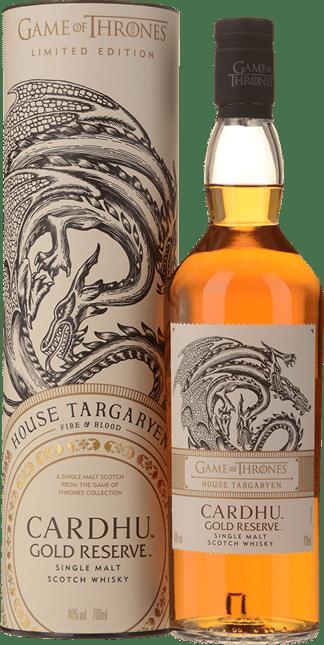CARDHU Gold Reserve Game of Thrones House Targaryen Single Malt Scotch Whiskey 40% ABV, Scotland NV