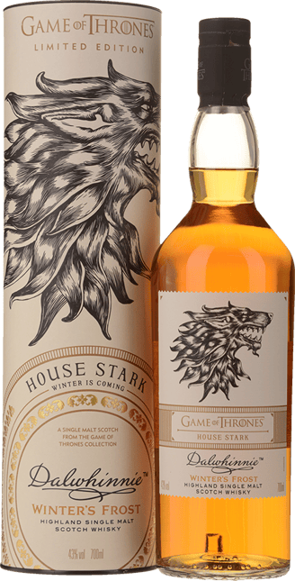 DALWHINNIE DISTILLERY Winters Frost Game of Thrones House Stark Single Malt Scotch Whiskey 43% ABV, The Highlands NV
