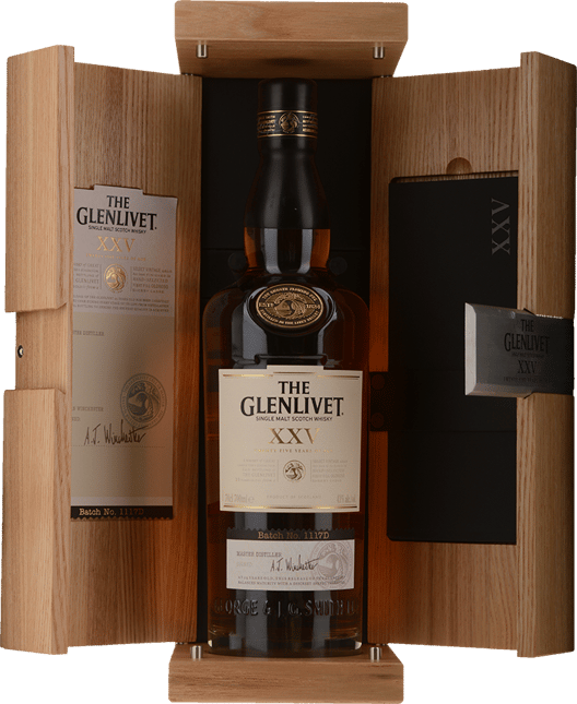 THE GLENLIVET 25 Year Old Single Malt Whisky 43% ABV, The Highlands NV