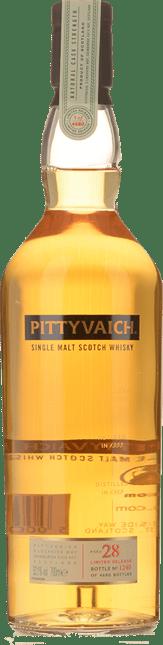 PITTYVAICH 28 Year Old Single Malt Scotch Whiskey 52.1% ABV, Speyside 1989