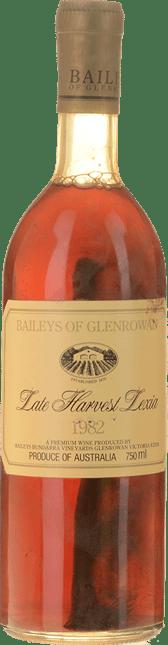 BAILEYS OF GLENROWAN Late Harvest Spatlese Lexia, Glenrowan 1982