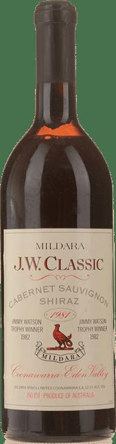 MILDARA J.W.Classic Cabernet Shiraz, Coonawarra-Eden Valley 1981