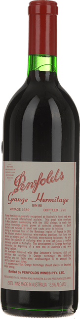 PENFOLDS Bin 95 Grange Shiraz, South Australia 1989
