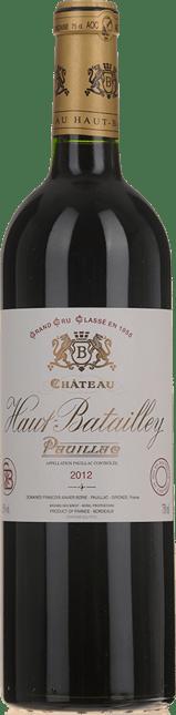 CHATEAU HAUT-BATAILLEY 5me cru classe, Pauillac 2012