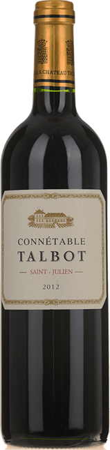CONNETABLE TALBOT Second wine of Chateau Talbot, St-Julien 2012