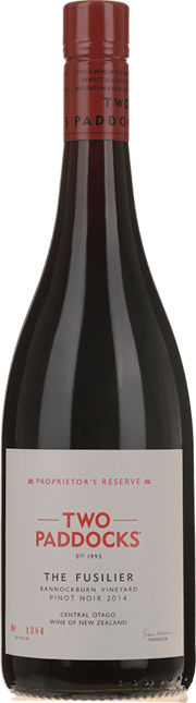 TWO PADDOCKS Proprietor's Reserve The Fusilier Pinot Noir, Central Otago 2014