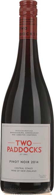 TWO PADDOCKS Pinot Noir, Central Otago 2014