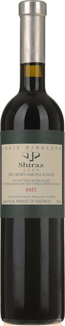 CHRIS RINGLAND Dry Grown Barossa Ranges Shiraz, Barossa 2009