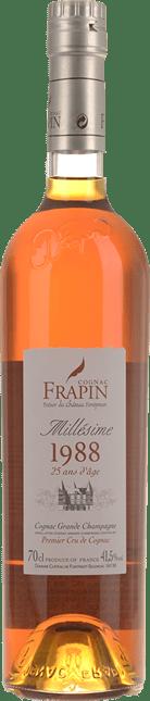 COGNAC FRAPIN 25 Y.O. Grande Champagne Cognac 1988 41.5%, Cognac 1988