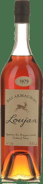 LOUJAN 1979 Armagnac 41% , Bas Armagnac 1979