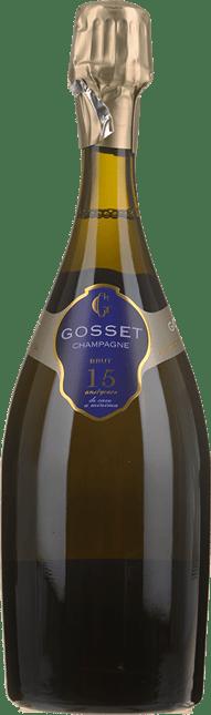 GOSSET 15 Ans de Cave Brut , Champagne NV