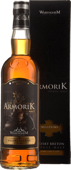 DISTILLERIE WARENGHEM Armorik Millesime 13 Y.O. Single Malt Whisky 55.5% ABV, Bretagne 2002