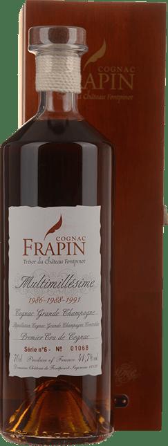 COGNAC FRAPIN Multimillesime Series 6 1986-1988-1991 Grande Champagne Cognac 41.7% ABV, Cognac NV