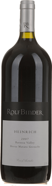 ROLF BINDER VERITAS WINERY Heinrich Vineyard Shiraz Mataro Grenache, Barossa Valley 2007