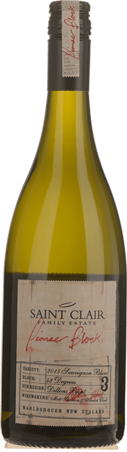 SAINT CLAIR Block 3 43 Degrees Sauvignon Blanc, Marlborough 2015