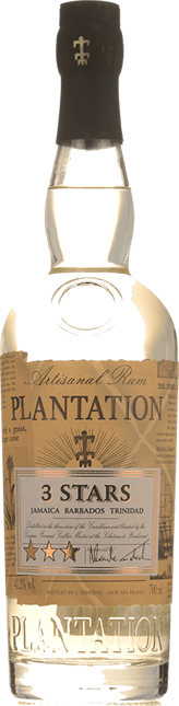 PLANTATION 3 Stars White Rum 41.2%, Jamaica, Barbados NV