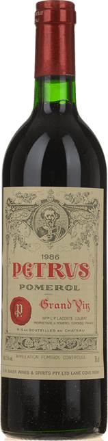 CHATEAU PETRUS Cru exceptionnel, Pomerol 1986