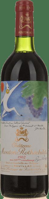 CHATEAU MOUTON-ROTHSCHILD 1er cru classe, Pauillac 1982