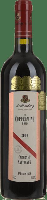 D'ARENBERG WINES The Coppermine Road Cabernet Sauvignon, McLaren Vale 2001