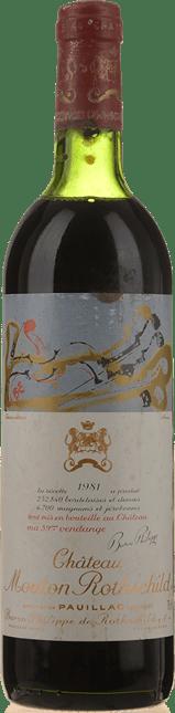 CHATEAU MOUTON-ROTHSCHILD 1er cru classe, Pauillac 1981