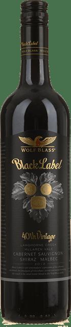 WOLF BLASS WINES Black Label, South Australia 2012