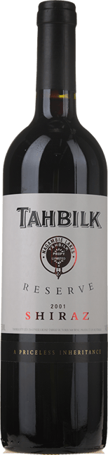 TAHBILK WINES Reserve Shiraz, Nagambie Lakes 2001