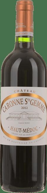 CHATEAU CARONNE-SAINTE-GEMME Cru bourgeois, Haut-Medoc 2012