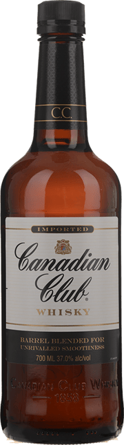 CANADIAN CLUB Blended Canadian Whisky 37% ABV, Canada NV