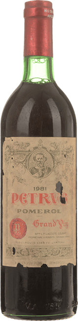 CHATEAU PETRUS Cru exceptionnel, Pomerol 1981
