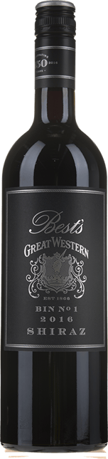 BEST'S WINES Bin 1 Great Western Shiraz, Grampians 2016