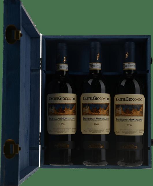 FRESCOBALDI Castel Giocondo 3 Bottle Set, Brunello di Montalcino DOCG MV