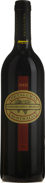 PETALUMA Merlot, Coonawarra 2001