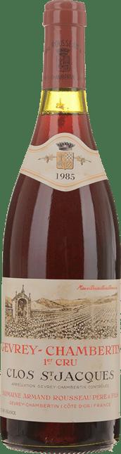 DOMAINE ARMAND ROUSSEAU Clos St Jacques 1er cru, Gevrey-Chambertin 1985