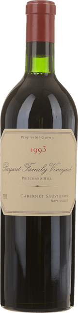BRYANT FAMILY VINEYARD Pritchard Hill Cabernet, Napa Valley 1993