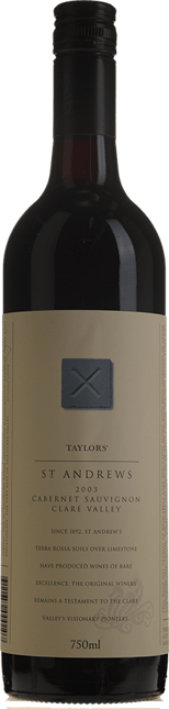 TAYLORS WINES St. Andrews Cabernet Sauvignon, Clare Valley 2003