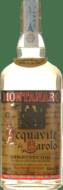 DISTILLERIA DOTT. MARIO MONTANARO Acquavite di Barolo Stravecchia 45% ABV(Extra Matured) , Barolo DOCG NV
