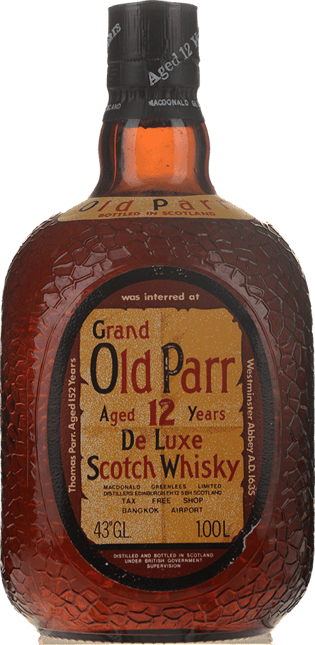 GRAND OLD PARR Aged 12 Years De Luxe Scotch Whisky 43% ABV Circa 1970's Bottling, Scotland NV