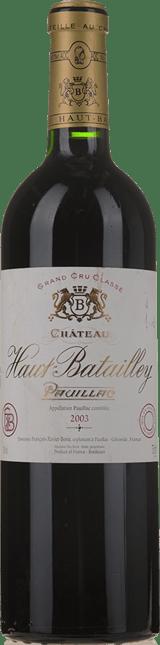 CHATEAU HAUT-BATAILLEY 5me cru classe, Pauillac 2003