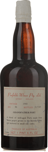 PENFOLDS Bin S6 Grandfather Port, Barossa Valley 1945