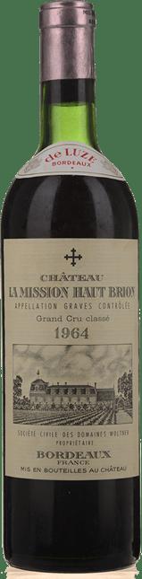 CHATEAU LA MISSION-HAUT-BRION Cru classe, Graves 1964